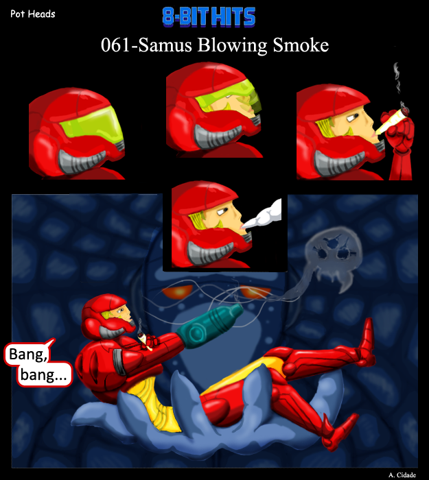 061-Samus Blowing SMoke
